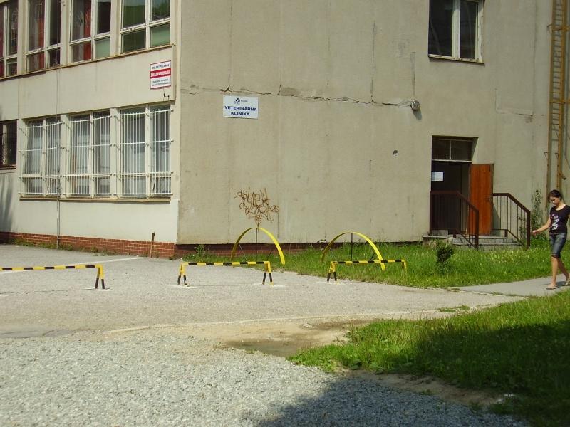 Vchod a parkovanie pred klinikou